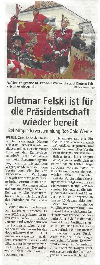 Pressebericht Präsidentschaft 3.4.2014