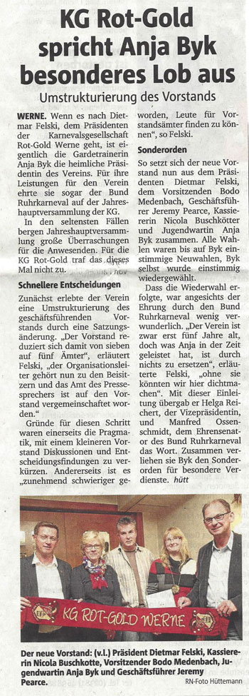 Pressebericht RN Lob für Anja Byk 05.05.2014