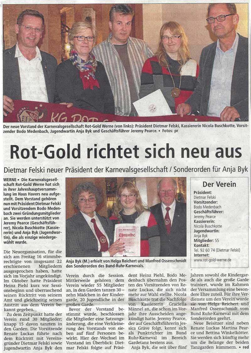 Pressebericht RN Rot Gold richtet sich neu aus 14.05.2014